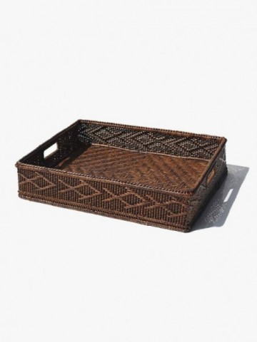 RATTAN OFFICE AND LETTER FILE HOLDER