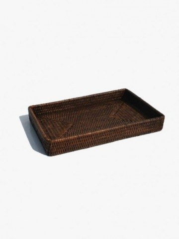 RATTAN SMALL WASTE DROP OR PLANT HOLDER