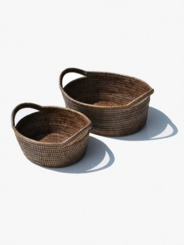 RATTAN RUSTIC PET BASKET