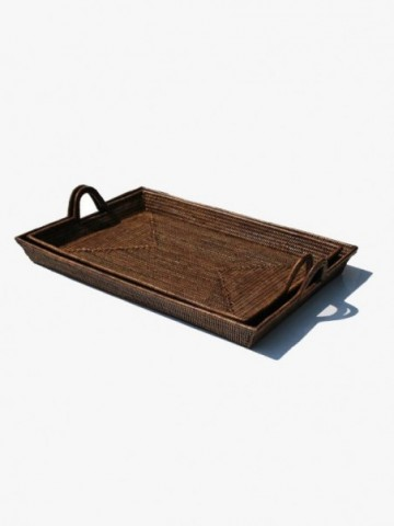 RATTAN OVAL DOG BED SMALL