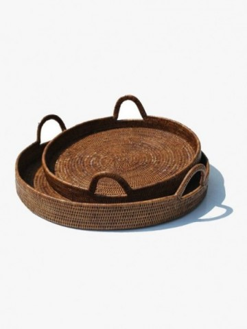 RATTAN OVAL DOG BED LARGE