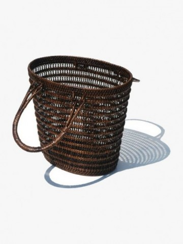 RATTAN HOME STORAGE BASKET