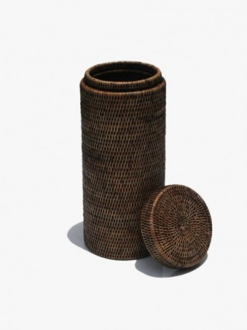 RATTAN MEDIUM HOME STORAGE BASKET