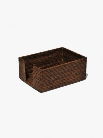 RATTAN LARGE TALL RATTAN TISSUE HOLDER