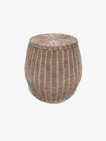 RATTAN TOILET ROLL DROP WITH RUSTIC RATTAN HANDLE