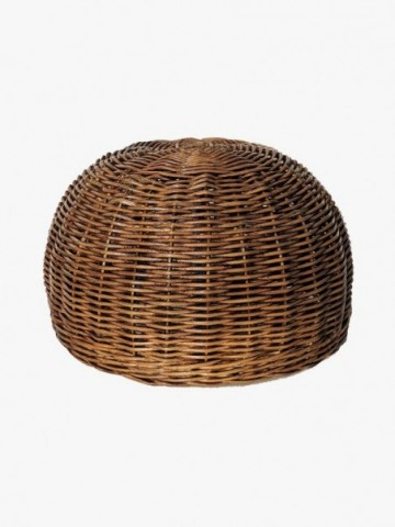 RATTAN TOILET ROLL DROP WITH NATURAL RUSTIC RATTAN HANDLE