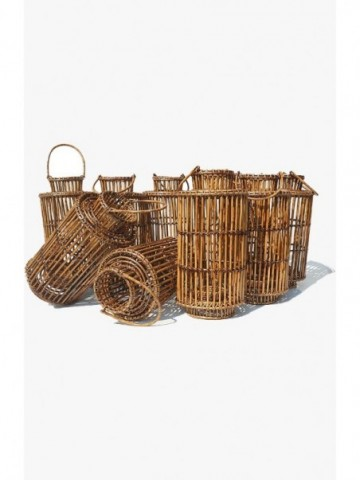 RATTAN MANDALAY TALL RECT. LAUNDRY WITH LID