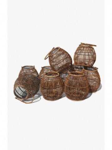 RATTAN OVAL PICNIC BASKET  WITH HANDLE