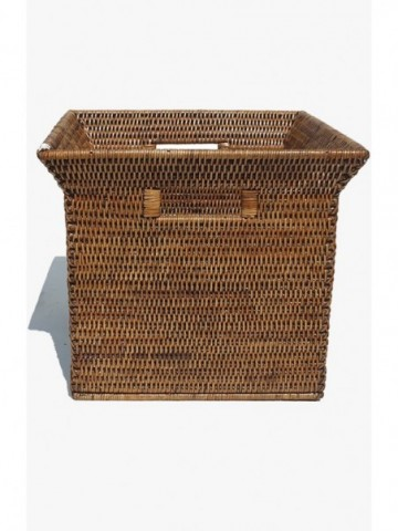 RATTAN STORAGE BOX WITH WOODEN HANDLE PG10ANT214H