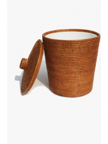 RATTAN MANDALAY WASTE PAPER BASKET