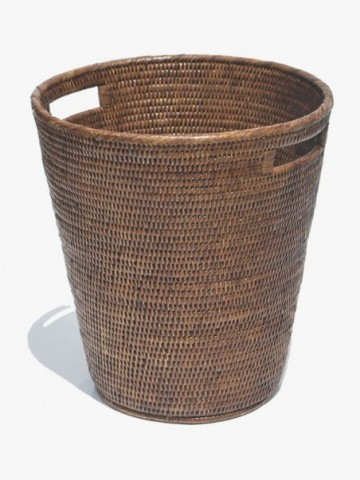 MANDALAY TALL ROUND HAMPER WITH LID