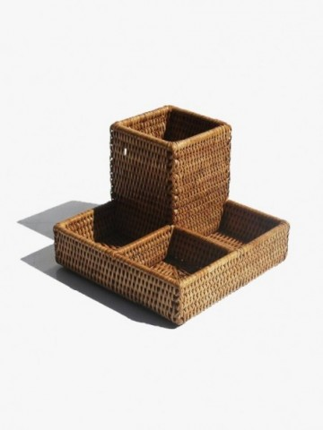 RATTAN SQUARE COFFEE TABLE