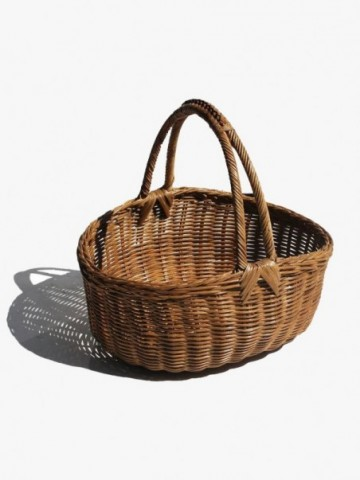 RATTAN SMALL CHEST WITH LEGS