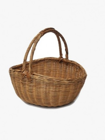 RATTAN OVAL CASTLE SHOPPING BAG
