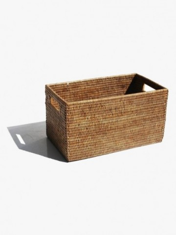 RATTAN CONDIMENT HOLDER WITH INSIDE DIVIDERS L AND S