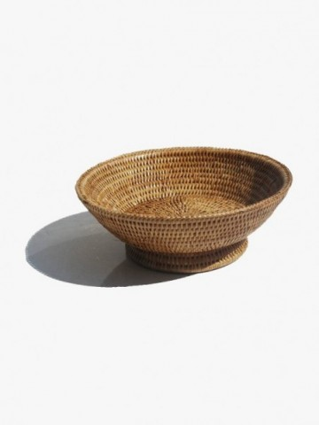 RATTAN TOILET ROLL STORAGE CONTAINER