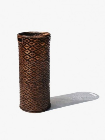 LARGE TALL RATTAN TISSUE HOLDER
