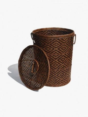 RATTAN OVAL FAMILY BASKET