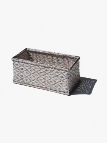 RATTAN STORAGE BOX WITH HIGH HANDLES