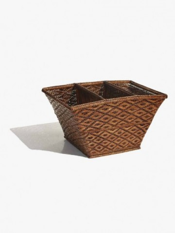 RATTAN STACKING SET OF FAMILY BASKETS