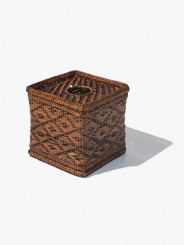 SQUARE RATTAN TISSUE BOX